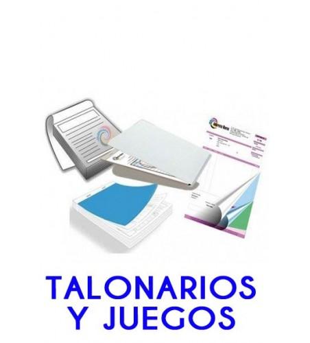 Talonarios/Juegos sin o con copias duplicados/triplicados