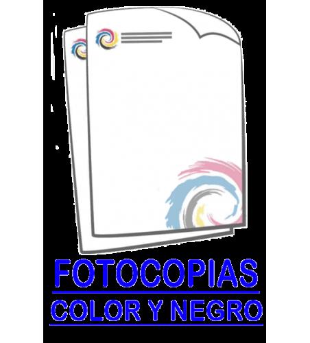 Fotocopias,  copias encuadernadas